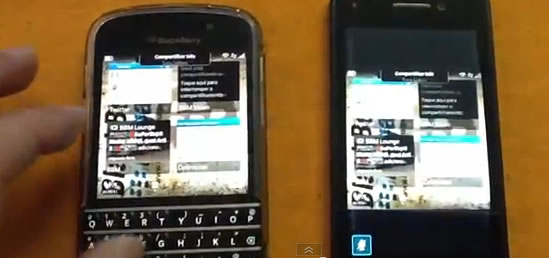 [BBVideo] Compartilhamento de tela com BlackBerry 10