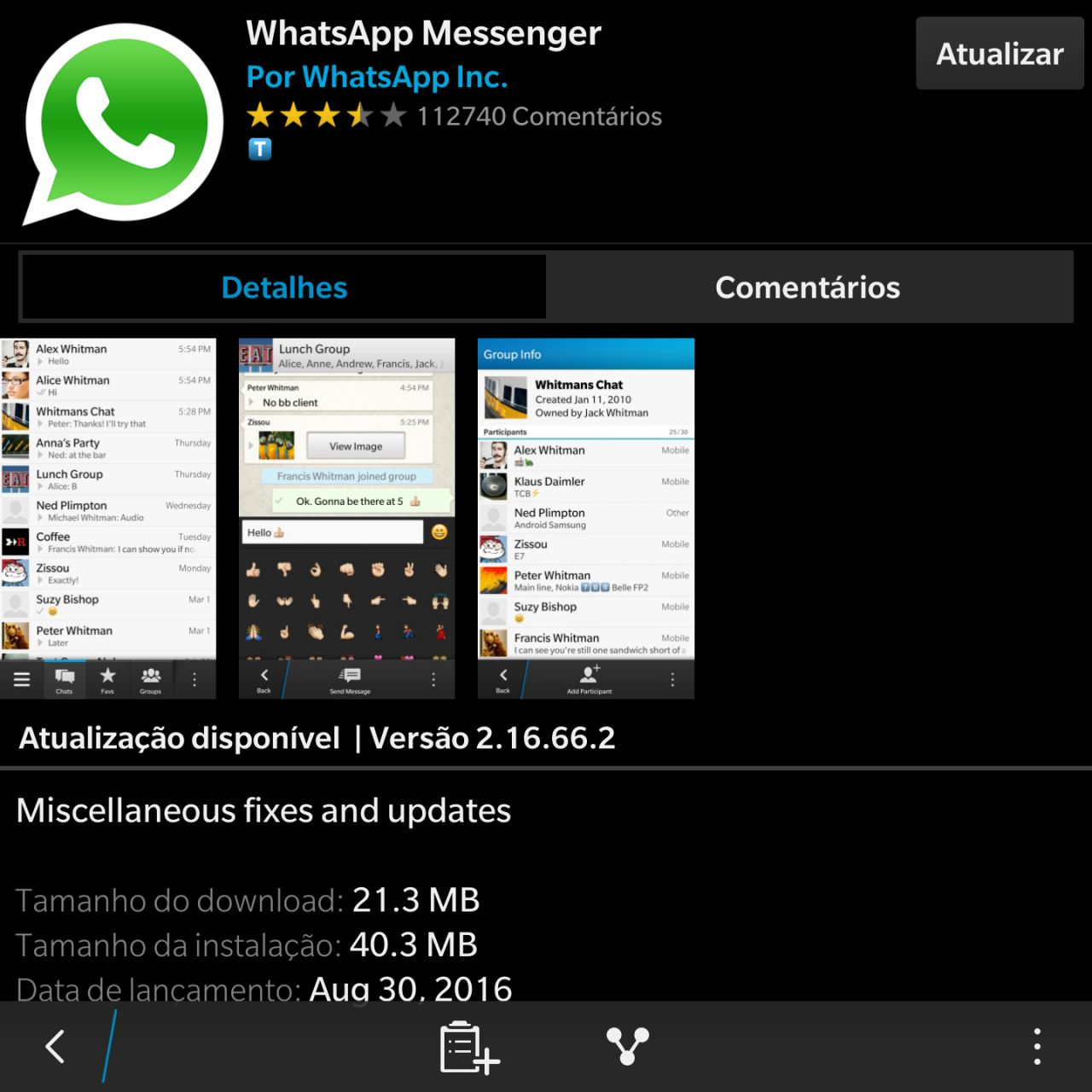 Whatsapp download blackberry app world